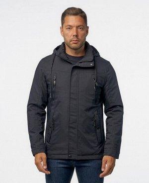 Куртка ТЕМНО-СИНИЙ ЧЕРНЫЙ НОЧНОЙ СИНИЙ Мужская куртка, имеет четыре нижних боковых кармана (два из которых на молниях, два на кнопках), два нагрудных кармана на молниях, два внутренних кармана (один и