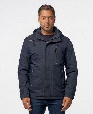 Куртка НОЧНОЙ СИНИЙ ЧЕРНЫЙ ТЕМНО-СИНИЙ Мужская куртка, имеет нагрудный карман на молнии - удобный для телефона и мелких предметов, два нижних боковых кармана на молниях, два внутренних кармана (один и