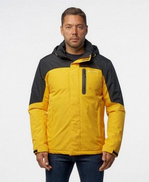 Куртка ЧЕРНЫЙ ТЕМНО-ЗЕЛЕНЫЙ ТЕМНО-СИНИЙ ЖЕЛТЫЙ СВЕТЛО-СИНИЙ КРАСНЫЙ Стильная мужская куртка, два наружных боковых кармана на молниях, нагрудный карман на молнии - удобный для телефона и мелких предмет