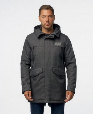 Куртка ЧЕРНЫЙ СЕРЫЙ ТЕМНО-СЕРЫЙ СЕРОВАТО-ЗЕЛЕНЫЙ Стильная, комфортная куртка - парка, изготовлена из качественной ветрозащитной ткани с водоотталкивающим покрытием. Два нижних боковых кармана с клапан