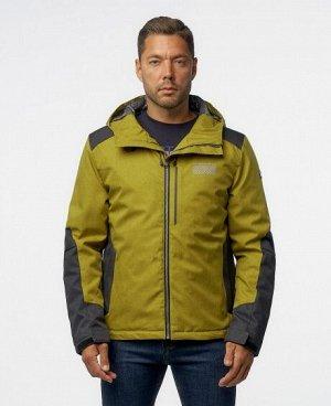 Куртка ТЕМНО-СЕРЫЙ СЕРЫЙ ЗЕЛЕНЫЙ КОФЕЙНЫЙ ЖЕЛТЫЙ Стильная мужская куртка, два наружных боковых кармана на молниях, нагрудный карман на молнии - удобный для телефона и мелких предметов, два внутренних