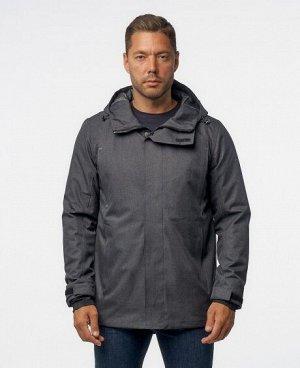 Куртка ЧЕРНЫЙ СЕРЫЙ ТЕМНО-СЕРЫЙ СЕРОВАТО-ЗЕЛЕНЫЙ Стильная, комфортная куртка, изготовлена из качественной ветрозащитной ткани с водоотталкивающим покрытием. Два нижних боковых кармана на молниях, два