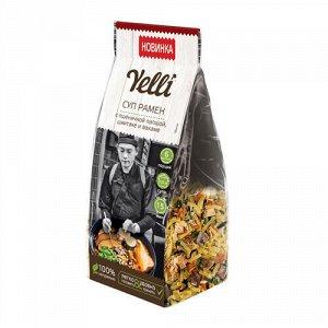 """Суп """"Рамен"""" с пшеничной лапшой, шиитаке и вакаме Yelli"""