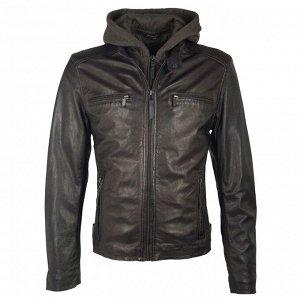 Куртка На кармане на хлястике надорвана кожа, можно подклеить. Куртка байкерская мужская. Торговая марка: Deercraft. Овощное дубление. Материал верха: 100% кожа ягненка.. Подкладка: 100% полиэстер.. К