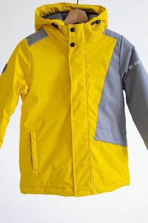 Куртка зима Colour block желтый