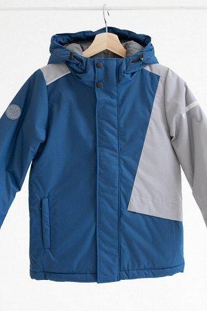 Куртка зима Colour block деним