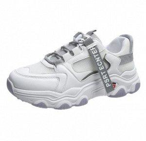 Женские кроссовки, цвет белый/серый