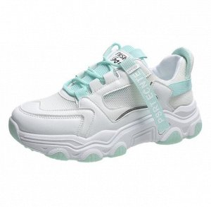 Женские кроссовки, цвет белый/бирюзовый