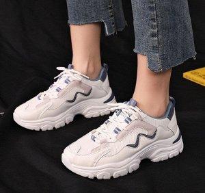 Женские кроссовки, цвет белый/синий