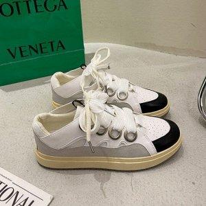 Женские кроссовки, цвет белый/черный
