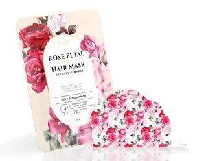 Питательная маска-шапочка для волос - ROSE SATIN  HAIR MASK [Petitfee&Koelf]
