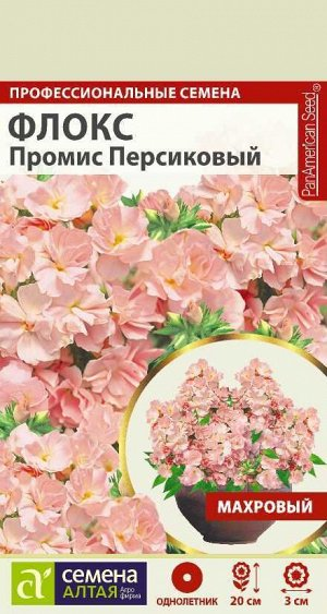 Флокс Промис Персиковый махровый/Сем Алт/цп 5 шт.
