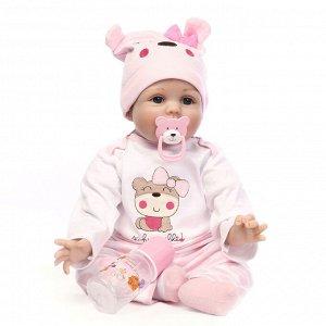 Кукла Маша Кукла-Реборн Маша Реборн (Reborn) ― означает «рождённый заново», куклы Реборн представляют собой имитацию ребёнка-младенца, выполненную максимально реалистично Тело мягконабивное Изготовлен