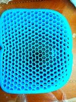 Подушка водителя CARFORT ортопедическая, гелевая, 430x360x40мм, синяя, арт. TP0701