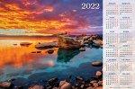 Календарь настенный листовой А1ф 90х60см на 2022г бум. мелован.-Прекрасный закат-