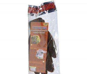 Перчатки из шерсти альпака - мужские, коричневые