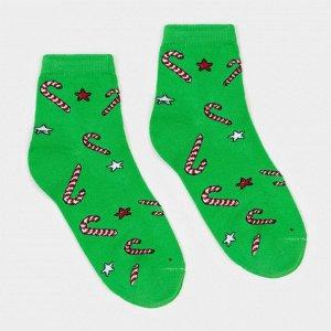 Носки женские «Карамель» цвет зелёный, размер 23-25