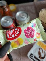 KitKat Ume plum 15g - Японский КитКат со вкусом сливочной сливы. 1шт