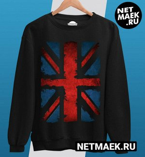 Свитшот с британским флагом, цвет черный