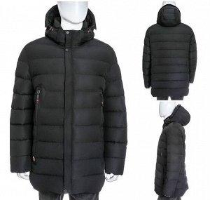 Мужская зимняя куртка с капюшоном и удобными карманами