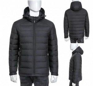 Мужская зимняя куртка на контрастном подкладе,  капюшоном