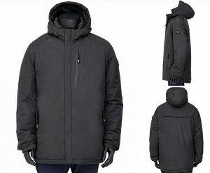 Мужская зимняя куртка на контрастном подкладе, с капюшоном