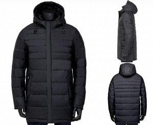 Мужская зимняя куртка на контрастном подкладе,с капюшоном