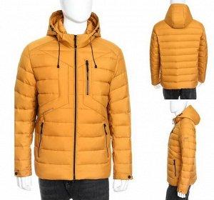 Мужская зимняя стеганая куртка с капюшоном