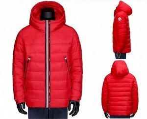 Мужская зимняя короткая стеганая куртка с капюшоном