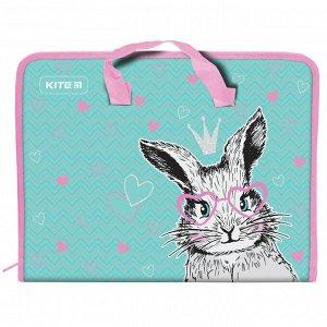 Папка-портфель на молнии, 1 отделение, A4, Kite, Cute Bunny