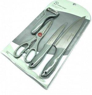 Набор ножей 2 шт, ножницы и овощечистка
