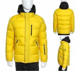Шикарная мужская зимняя спортивная куртка с контрастным капюшоном