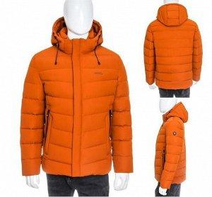 Мужская зимняя спортивная стеганая куртка с капюшоном и двойными карманами