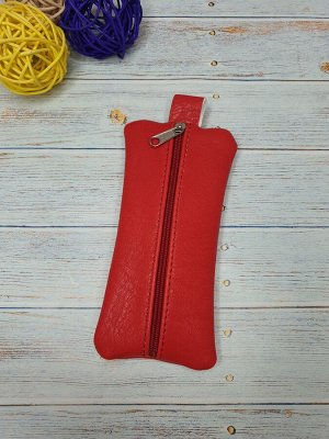 Ключница Ключница. Искусственная кожа. Цвет красный. 6x14 см