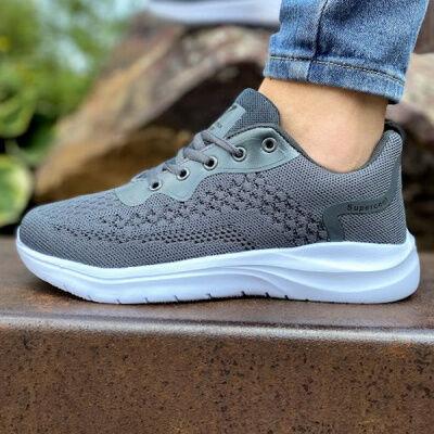 Спортивная и повседневная обувь из эко-кожи и текстиля — Летняя спортивная обувь. Размеры 35-42
