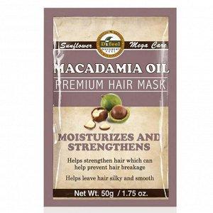 Питательная маска для волос с маслом макадамии Difeel Macadamia Oil Premium Hair Mask, 50 г