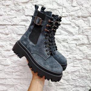 Ботинки BERTA серый зима