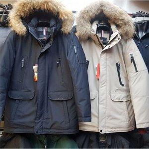 Мужская зимняя куртка-парка с капюшоном от LANQSIDUN