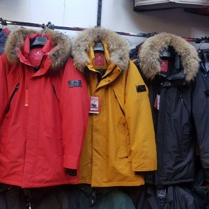 Мужская зимняя куртка-парка с капюшоном от Kings Wind