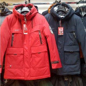 Мужская зимняя удлиненная куртка-парка с капюшоном от Kings Wind
