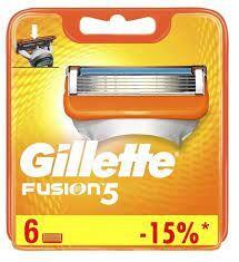 GILLETTE  FUSION  кассета для бритья 6 шт