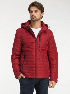 Демисезонная стеганая мужская куртка с капюшоном, цвет БОРДОВЫЙ