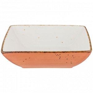 """Тарелка десертная квадратная """"nature"""" 17см, оранжевая"""