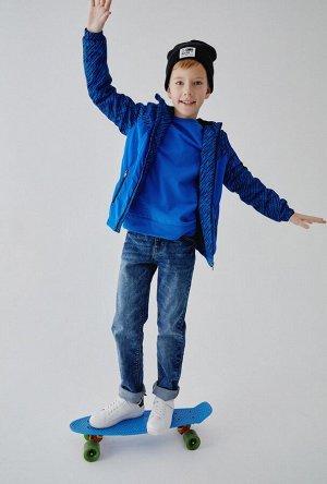 Брюки джинсовые детские для мальчиков Yinhui синий