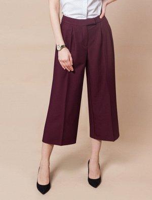 Удлиненные брюки-кюлоты классической ширины из поливискозы