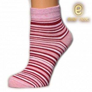 Носки жен 21-007 (ЕН) полоски розовый бордовый