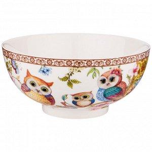 """Салатник - тарелка суповая """"owls family"""" 15*7 см"""