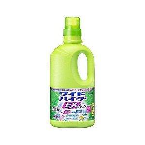 Жидкий кислородный отбеливатель «Wide Haiter EX Power» для цветного белья концентрат (с антибактериальным эффектом) 1000 мл / 12