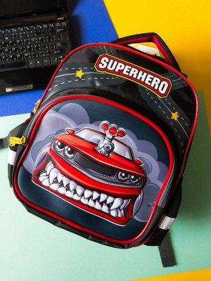 """Рюкзак Berlingo Kids """"Superhero"""", эргономичная спинка, LED кант"""