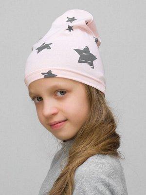 Шапка для девочки Звезды пудровые
